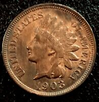 1903 US 1c Indian Head Cent Penny