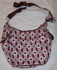 Bumble Collection Pink Brown Daytripper Diaper Bag Girl Baby Chloe