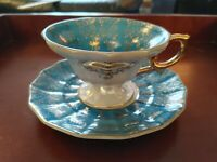 Vintage Tea Set Cup and Saucer, Royal Sealy China Japan Vintage Lusterware