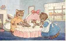 "MARGARET TEMPEST A/S  ""CAT'S CRADLE"" KITTENS SLEEPING #208 POSTCARD"