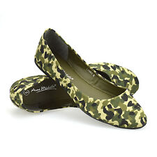 Ladies Womens New Flat Ballerina Slip On Canvas Pumps Casual Dolly Shoes Size