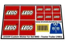 Precut Replica Sticker for Lego Set 6692 - Tractor Trailer (1983)