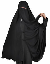 Extra Long niqab-Khimar Kombi, visage voile Hijab Islamique vêtements hi0385