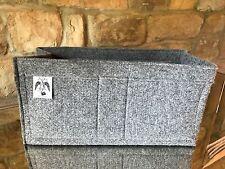 BAYSWATER BAG LINER INSERT ORGANISER FELT Steel Grey Made UK by Handbag Angels