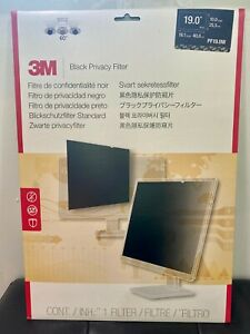 """NEW 3M PF19.0W Black Privacy Screen Filter for 19"""" Widescreen LCD Monitor 16:10"""
