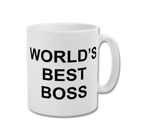 WORLDS BEST BOSS Michael Scott The Office TV Show Funny Coffee Tea Mug Cup White