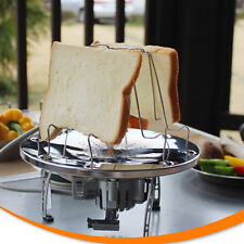 4 Slices Camping Bread Toast Tray Gas Stoves Cooker BBQ Camping Toaster Rack