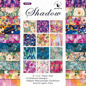12X 6'' Floral Oil Painting Paper Pad Scrapbooking Album Background Single-sided