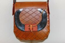Hand Tooled & Hand Painted Leather Purse, Bull Horns, Chacho, One of a Kind