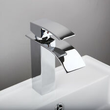 AS Hot/Cold Chrome Faucet Brass Waterfall  Bathroom Basin Sink Taps Mixer Faucet