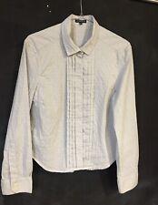 ANN Demeulemeester Blouse White black embroidery shirt small Medium vintage