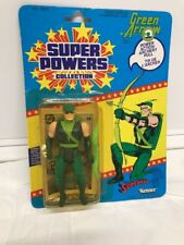 Kenner Super Powers Green Arrow With Power Action Archery Pull Canadian (MOC)