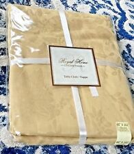 Royal Home Collection Gold Table Cloth Easy Care NEW Large 60 x 102 Oblong!