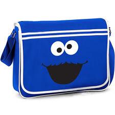 COOKIE MONSTER RETRO BAG Sesame Street Messenger Shoulder Bag School College