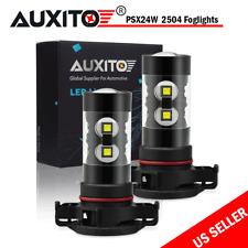 2X 2504 PSX24W Ultra White High Power 50W LED Bulbs Fog Driving Light for Dodge