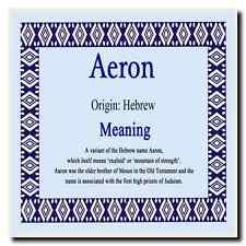 Aeron Personalised Name Meaning Coaster