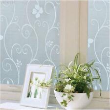 60AD Milchglasfolie Fensterfolie Blumen Pflanzen Glasdekor Sonnenschutz Dekor