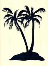 PALM TREES Rubber Stamp 184613 Recollections Brand NEW! tropical island