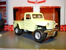1951 WILLYS JEEP PICKUP CUSTOM EDITION 1/64 MB CUSTOM WHEELS AND TIRES DETAILED