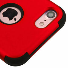 a for Apple iPhone 7 TI Red/black Tuff Hybrid Case Cover