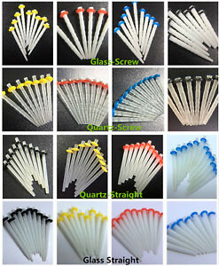 Dental Glass Fiber Post 65% Fibre 1.2 Yellow 1.4 Red 1.6 1.8 Quartz Screw Crown
