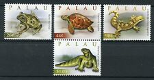 Palau 2009 MNH Reptiles of World 4v Set Monitor Lizards Frogs Turtles Stamps