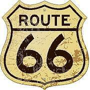 Route 66 Sign Distressed Vinyl Sticker Decal Cars Trucks Vans Walls Laptop
