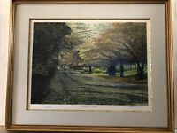 """Harold Altman 1984 """"Autumn Riders"""" Limited Edition Signed Lithograph Print"""