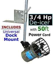 Kasco 3/4 HP De-icer Water Agitator Deicer for Dock Marina Pond - 50 ft cord