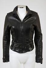 Jean Claude Jitrois Lambskin Leather Chinchilla Fur Lined Jacket $8,500