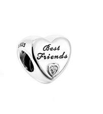 .Pandora Sterling Silver Friendship Best Friends Heart Charm S925 ALE 791727CZ