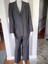 GIORGIO ARMANI COLLEZIONI sz 14 BLAZER,Ladies SUIT Jacket,pants,charcoal wool **