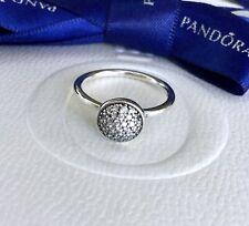Authentic Pandora Silver Dazzling Droplet CZ Pave Ring Size 54 #191009CZ