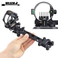 Compound Bow Sight 7 Pin (.019) Archery Micro Adjustable Optical Fiber Hunting