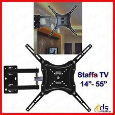 staffa braccio porta tv da muro per lcd a parete 22 32 40 42 50 55 pollici led
