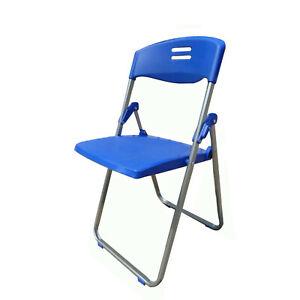 Chair, Folding metal/molded plastic 11567-6pk-blue