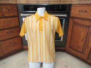 1950's 1960's Regency Striped netting pullover knit shirt Men's Large
