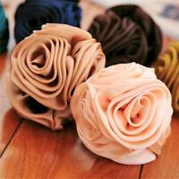 Korean Womens Chiffon Rose Flower Bow Jaw Clip Barrette Hair Claw Acce