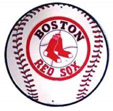 "11.75"" Tin Sign Round Boston Redsox Baseball Metal Sign New"