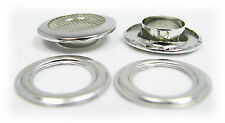 "Cigar Box Guitar Parts: 4pc. 1"" Shiny Nickel Screened Grommets"