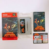SUPER METROID Nintendo Super Famicom SFC SNES Japan game W/Box Manual