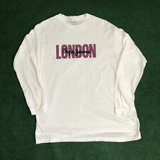 VINTAGE Pepe Jeans London Men's Long Sleeve T-Shirt Embroidered Size OSFA