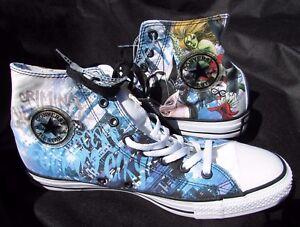 Converse shoe sz 9.5, 10 black blue DC COMICS Harley Quinn Catwoman 12 OFFER new