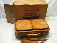 Vintage American Tourister Carry On Escort Suitcase Luggage Soft Bag Box Mustang