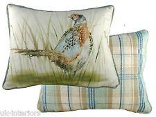 """17""""x13"""" Country Pheasant Cushion Evans Lichfield DPA312 43x33cm Cotton Bird"""