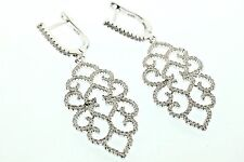 Designer  chandelier earrings with cubic zirconium set in sterling silver