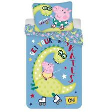 Peppa Pig George Dino Single Duvet Cover Set European Size 100% Cotton