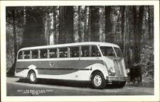 Art Deco Bus Gray Line Muir Woods CA Old c1940s-50s Postcard