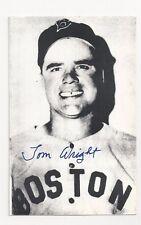 "Tom Wright Boston Red Sox 3 1/2"" x 5 1/4"" Baseball Photo Autographed"