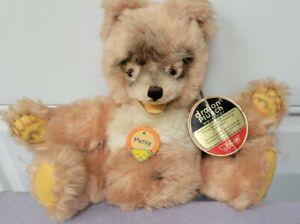 RARE Vintage Steiff Dralon Petsy Teddy Bear Button In The Ear All ID'S